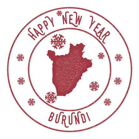 Happy New Year Burundi icon.