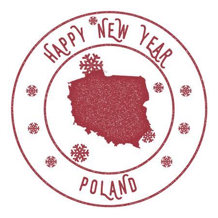 Happy New Year Poland icon.