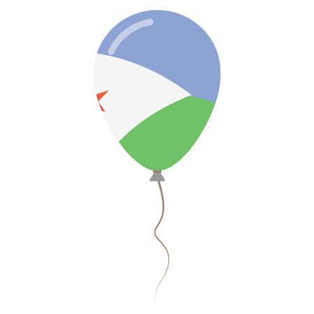 Republic of Djibouti national colors isolated balloon 向量圖像