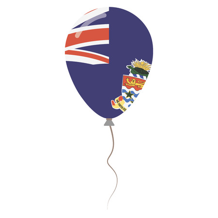 Cayman Islands national colors isolated balloon on white background. Independence day patriotic poster. Flat style National day vector illustration. Illustration