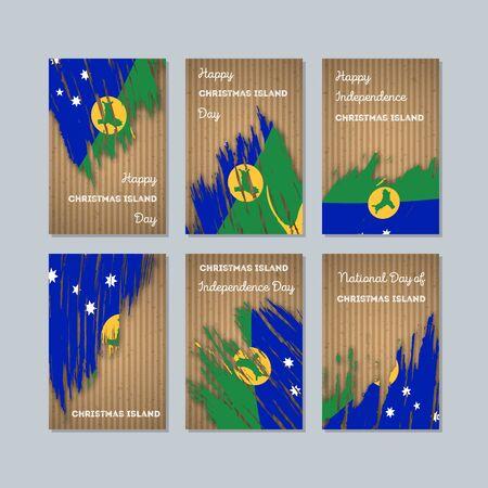 Set of Christmas Island greeting cards.