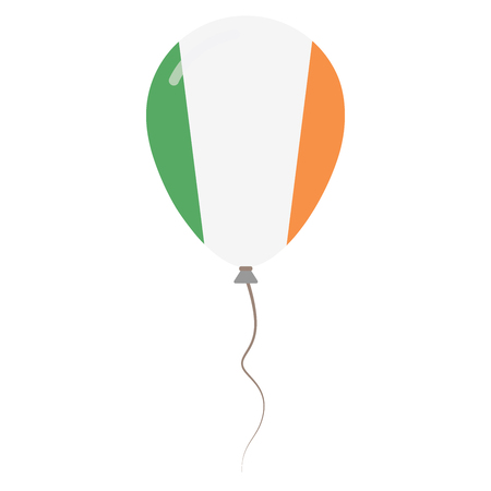 proclamation: Ireland national colors isolated balloon on white background. Independence day patriotic poster. Flat style National day vector illustration.