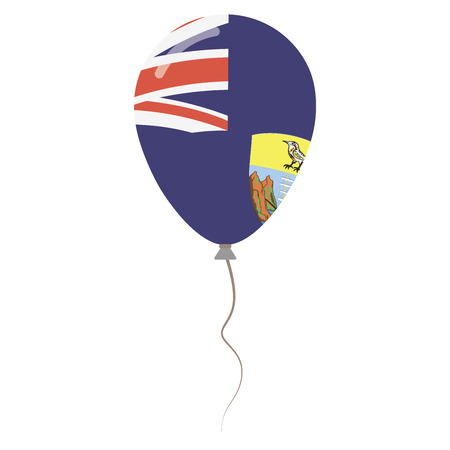 Saint Helena, Ascension and Tristan da Cunha national colors isolated balloon on white background. Independence day patriotic poster. Flat style National day vector illustration.
