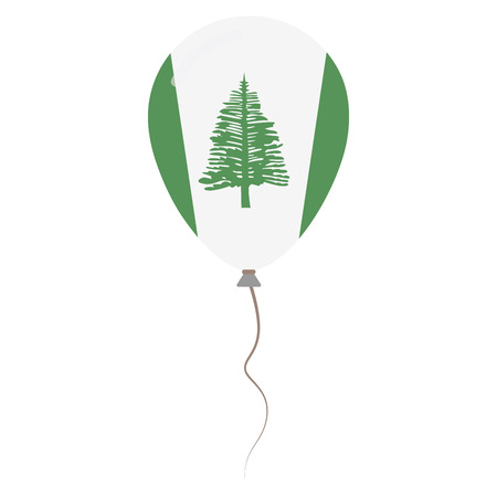 Territory of Norfolk Island national colors isolated balloon on white background. Independence day patriotic poster. Flat style National day vector illustration.