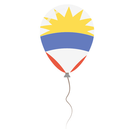 antigua: Antigua and Barbuda national colors isolated balloon on white background. Independence day patriotic poster. Flat style National day vector illustration.