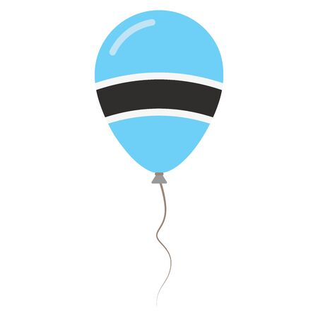 proclamation: Republic of Botswana national colors isolated balloon on white background. Independence day patriotic poster. Flat style National day vector illustration. Illustration