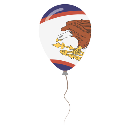 American Samoa national colors isolated balloon on white background. Independence day patriotic poster. Flat style National day vector illustration.