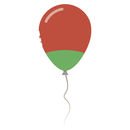 Republic of Belarus national colors isolated balloon on white background. Independence day patriotic poster. Flat style National day vector illustration. Illustration