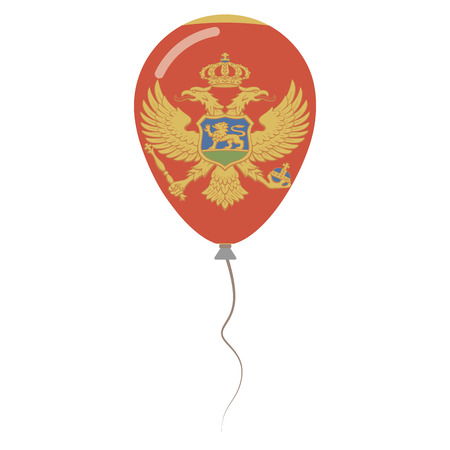 Montenegro national colors isolated balloon on white background. Independence day patriotic poster. Flat style National day vector illustration.
