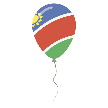 Republic of Namibia national colors isolated balloon on white background. Independence day patriotic poster. Flat style National day vector illustration. Illustration