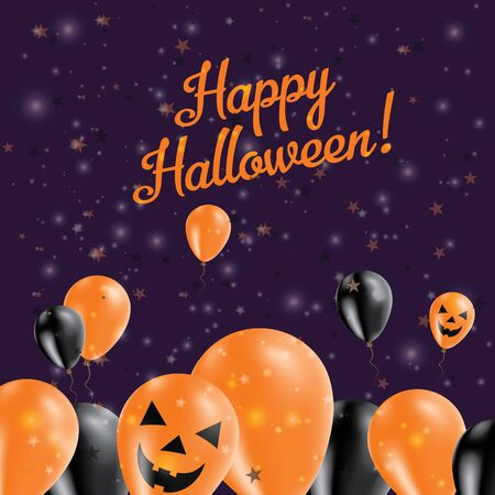 Halloween balloon greeting card black and orange colored all halloween balloons bottom greeting card black and orange colored all saints day poster vector m4hsunfo Gallery