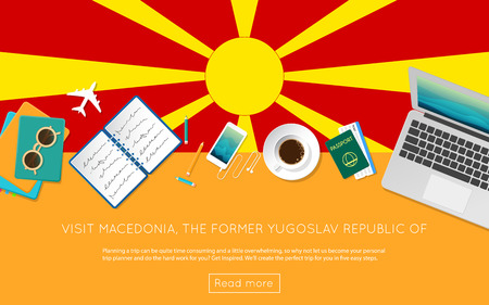 Visit Macedonia, the Former Yugoslav Republic Of concept for your web banner or print materials.