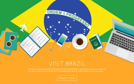 Visit Brazil concept for your web banner or print materials.