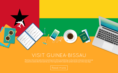 Visit Guinea-Bissau concept for your web banner or print materials.