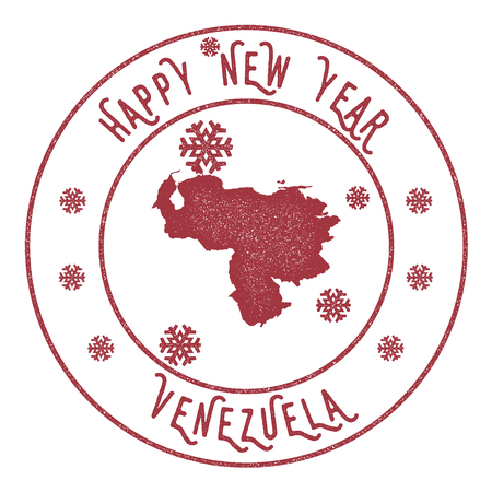 politic: Retro Happy New Year Venezuela Illustration