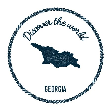 Georgia Vector Map Stock Vector Illustration And Royalty Free - Georgia map label