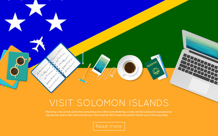 Visit Solomon Islands concept for your web banner or print materials.
