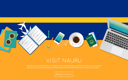 Visit Nauru concept for your web banner or print materials.