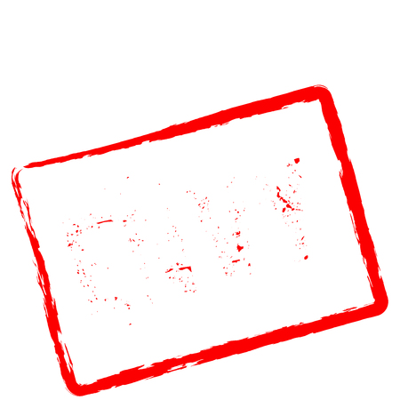Envy red rubber stamp isolated on white background. Grunge rectangular seal with text, ink texture and splatter and blots, vector illustration. Ilustrace