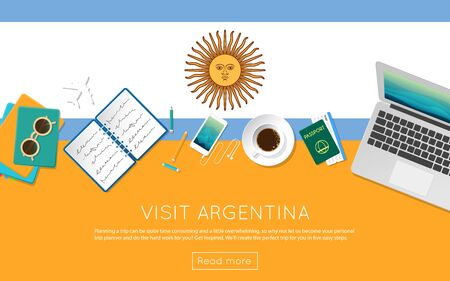 Visit Argentina concept for your web banner or print materials