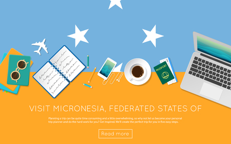 on top of the world: Visit Micronesia, Federated States Of concept for your web banner or print materials.