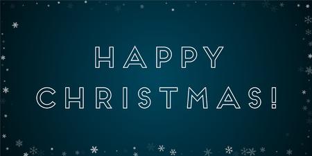 幸せなクリスマスのグリーティング カード。  イラスト・ベクター素材
