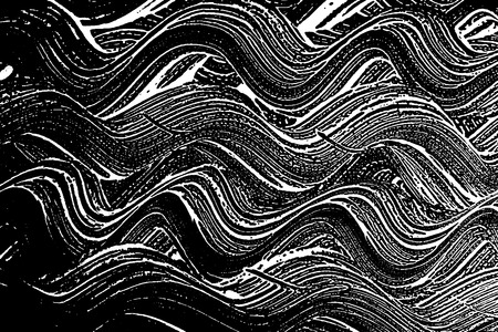 Grunge soap texture black and white. Distress black and white rough foam trace lovely background. Noise dirty rectangle grunge foam texture. Dirty artistic soap background. Vector illustration 94.
