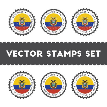 I Love Ecuador stamps set