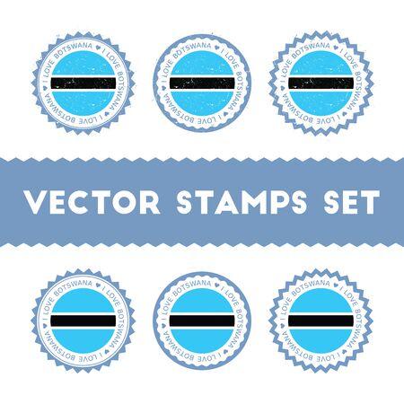 I Love Botswana stamps set