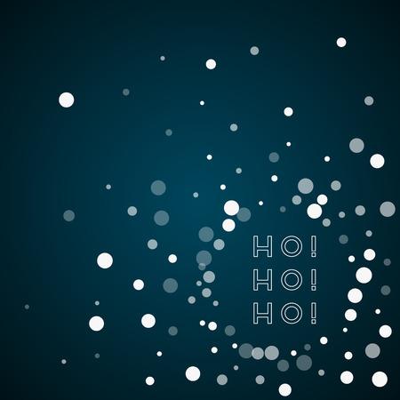 Ho-ho-ho greeting card. Illustration