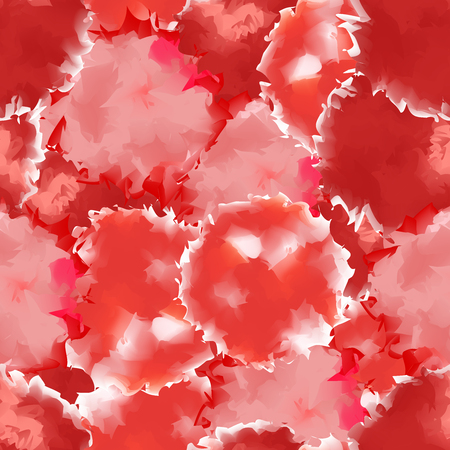 Red seamless watercolor texture background. Sightly abstract red seamless watercolor texture pattern. Expressive messy vector illustration.