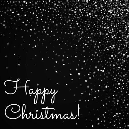 Happy Christmas greeting card. Amazing falling stars background. Amazing falling stars on black background. Unique vector illustration. Illusztráció