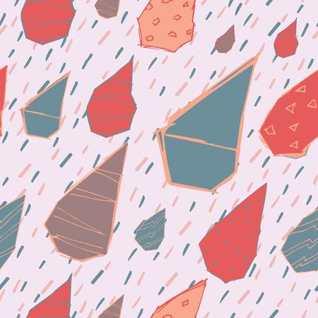 Raindrops pattern. Illustration