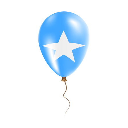 Somalia balloon with flag. Bright Air Ballon in the Country National Colors. Country Flag Rubber Balloon. Vector Illustration.