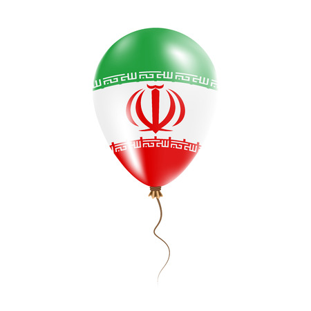Iran balloon with flag Illustration