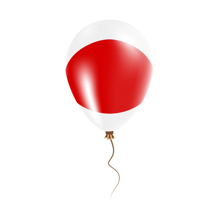 Japan balloon with flag. Bright Air Balloon in the Country National Colors. Country Flag Rubber Balloon. Vector Illustration.