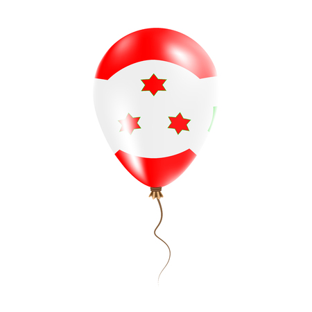 Burundi balloon with flag. Bright Air Ballon in the Country National Colors. Country Flag Rubber Balloon. Vector Illustration. Illustration
