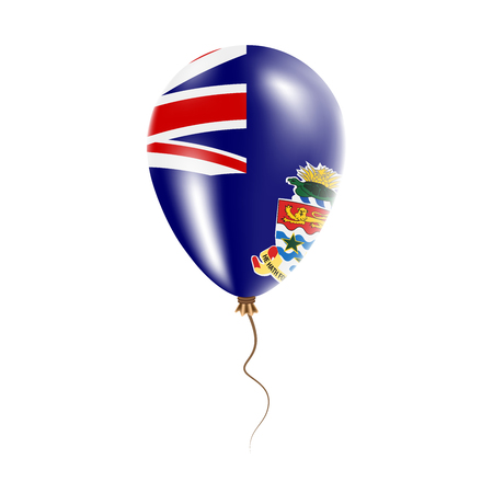 Cayman Islands balloon with flag. Bright Air Ballon in the Country National Colors. Country Flag Rubber Balloon. Vector Illustration.