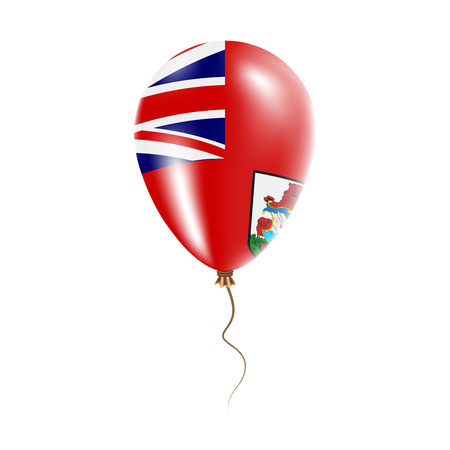 Bermuda balloon with flag. Bright Air Ballon in the Country National Colors. Country Flag Rubber Balloon. Vector Illustration.