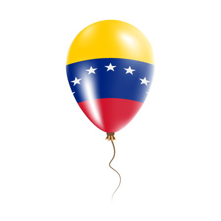 Venezuela, Bolivarian Republic of balloon with flag. Bright Air Balloon in the Country National Colors. Country Flag Rubber Balloon. Vector Illustration. Illustration