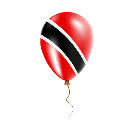 Trinidad and Tobago balloon with flag. Bright air balloon in the country national colors. Country flag rubber balloon. Vector illustration.