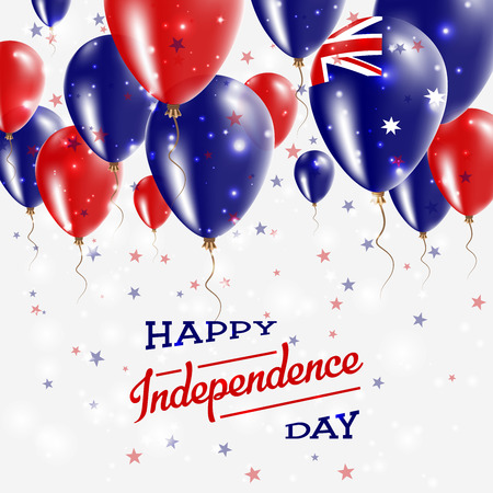Heard and Mc Donald Islands Vector Patriotic Poster. Independence Day Placard with Bright Colorful Balloons of Country National Colors. Heard and Mc Donald Islands Independence Day Celebration. Illustration