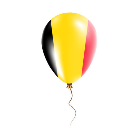 Belgium balloon flag illustration. Illustration