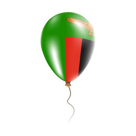 Zambia balloon flag illustration. Illustration
