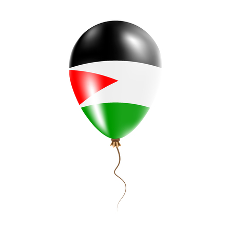 Palestine  balloon flag illustration.