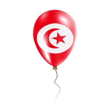 Tunisia balloon flag illustration.