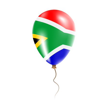 South Africa balloon flag illustration.