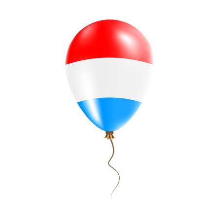 Luxembourg balloon with flag. Bright air balloon in the country national colors. Country flag rubber balloon.