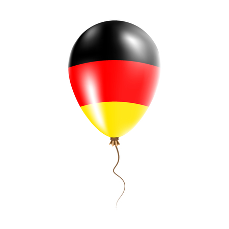 Germany balloon with flag. Bright Air Ballon in the Country National Colors. Country Flag Rubber Balloon. Vector Illustration. Illustration