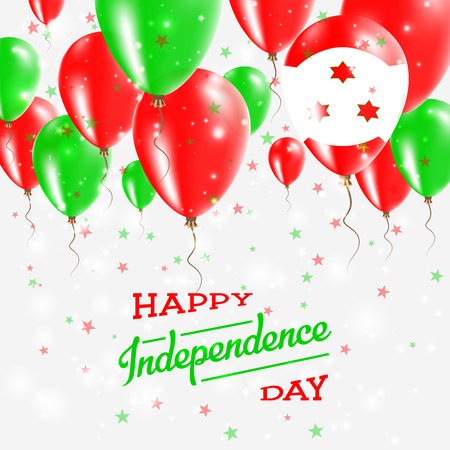 Burundi Vector Patriotic Poster. Independence Day Placard with Bright Colorful Balloons of Country National Colors. Burundi Independence Day Celebration.